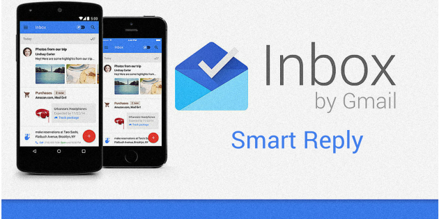 Smart reply arrive sur la version web d'inbox by Gmail