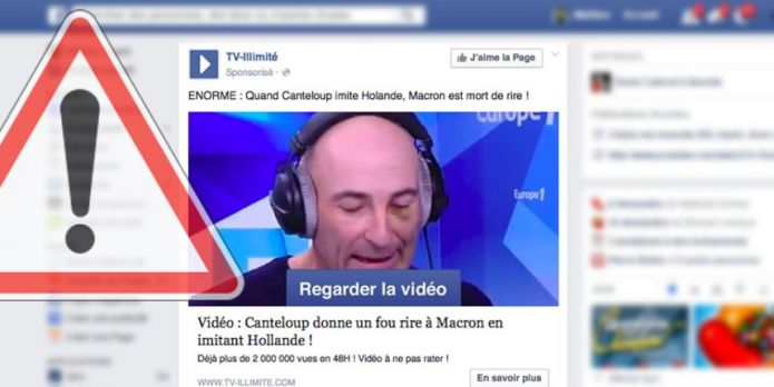 Videos payantes nouvelle arnaque Facebook