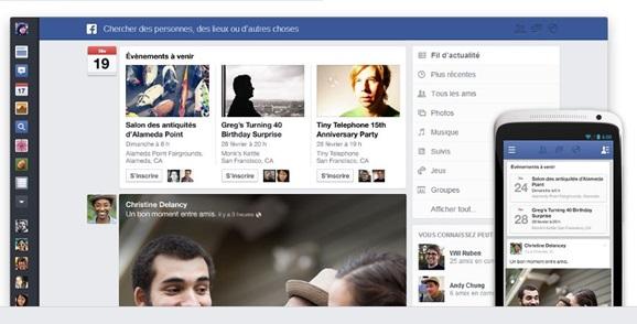 Facebook bêta test d'un nouveau fil d'actualité