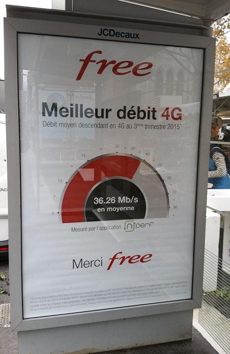 Free a le meilleur débit 4G à part en soirée