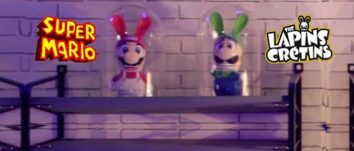 Mario et les lapins crétins dans un jeu totalement déjanté