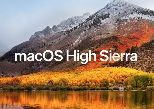 MacOS High Sierra disponible en téléchargement