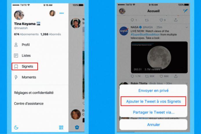 Twitter lance un système de signets pour lire des tweets plus tard
